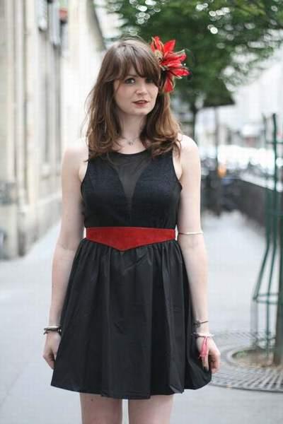 robe rouge ceinture noire,robe ceinture sous poitrine,ceinture pour robe de  soiree,robe bustier ceinture paillette naf naf,tuto ceinture robe a0c5d3c7745